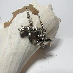 Rhino rhinoceros earrings